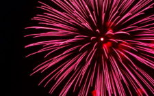 Lumiere Wedding Fireworks Display Heart Bursts
