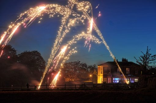 Wedding Fireworks Dovecliff Hall