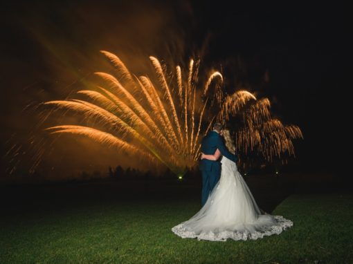 Peak Edge Hotel Wedding Fireworks